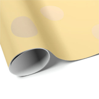 Polka Small Dots Yellow Mustard Foxier Gold Ivory Wrapping Paper