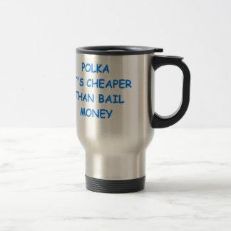 polka stainless steel travel mug