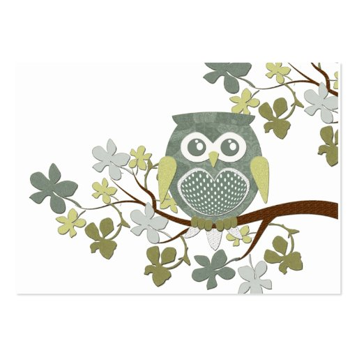 Polka Tree Owl Business Card