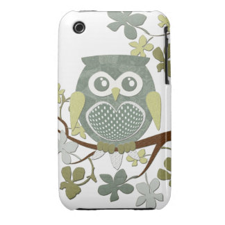 Polka Tree Owl Case Case-Mate iPhone 3 Cases