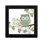 Polka Tree Owl Giftbox Jewelry Boxes