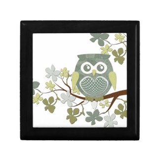 Polka Tree Owl Giftbox Small Square Gift Box