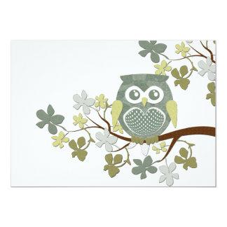 Polka Tree Owl Invitation
