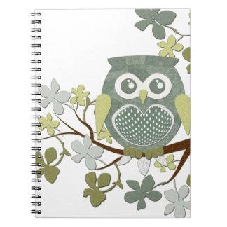 Polka Tree Owl Notebook