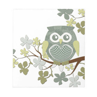 Polka Tree Owl Notepad