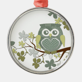 Polka Tree Owl Ornament