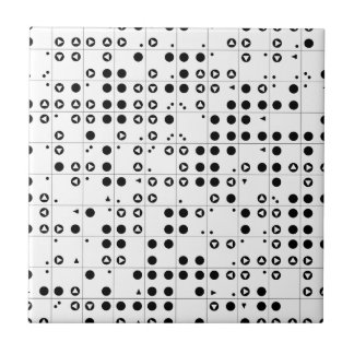 Polka-Tri Small Square Tile