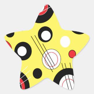 Polka Yellow Star Sticker