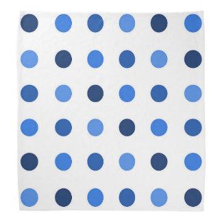 Polkadot Blue Bandana