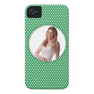 Polkadot Frame in green iPhone 4 Cover