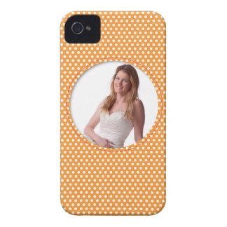 Polkadot Frame in orange iPhone 4 Case