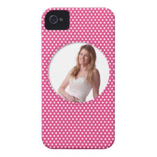 Polkadot Frame pink Case-Mate iPhone 4 Case