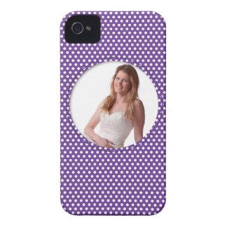 Polkadot Frame purple Case-Mate iPhone 4 Cases