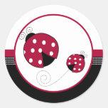 Polkadot Ladybugs Envelope Seals Round Stickers