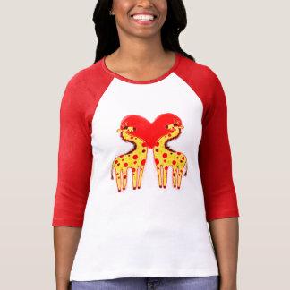 Polkadot Love Spot Giraffes T Shirts