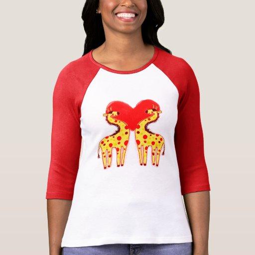 Polkadot Love Spot Giraffes Shirt