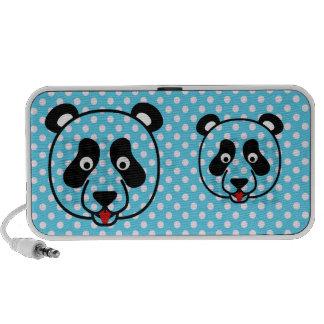 Polkadot Panda Face iPod Speaker
