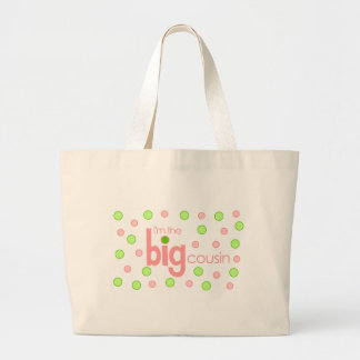 Polkadot pink and green Big Cousin T-shirt Jumbo Tote Bag