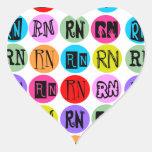 Polkadot RN Heart Sticker