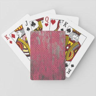 polkadot rustic playing cards