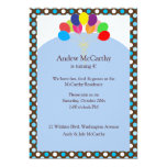 Polkadots and Balloons Children's Birthday Party Personalised Invite