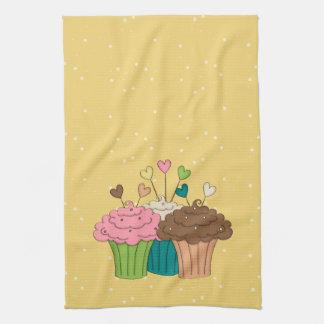 Polkadots and Cupcakes Tea Towel