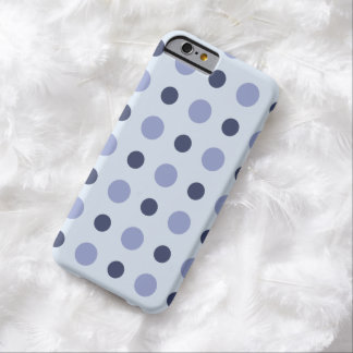 Polkadots Blue Barely There iPhone 6 Case
