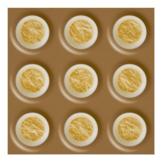 Polkadots - Chocolate Marshmallow Print
