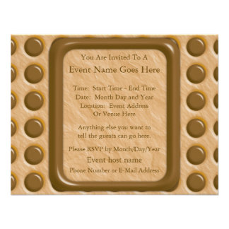 Polkadots - Chocolate Peanut Butter Custom Invitation