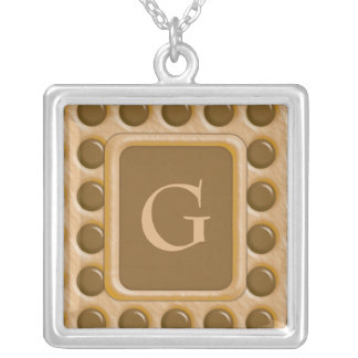 Polkadots - Chocolate Peanut Butter Silver Plated Necklace