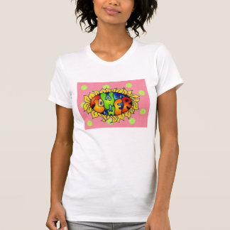 polkadots, flower power t shirts
