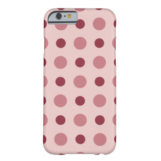 Polkadots Pink Barely There iPhone 6 Case