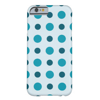 Polkadots Turquoise Barely There iPhone 6 Case