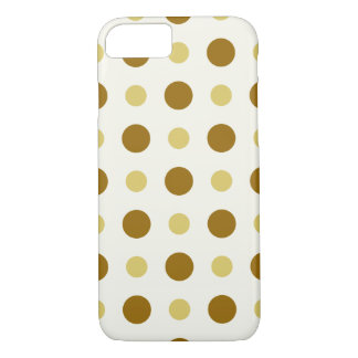 Polkadots Yellow and Brown iPhone 7 Case