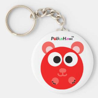PolkaHam Red Key Chain