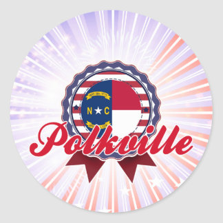 Polkville, NC Round Sticker