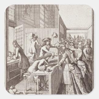 Poll Tax, 1709 Square Sticker