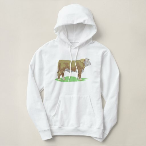 Polled Hereford Embroidered Pullover Hoodie