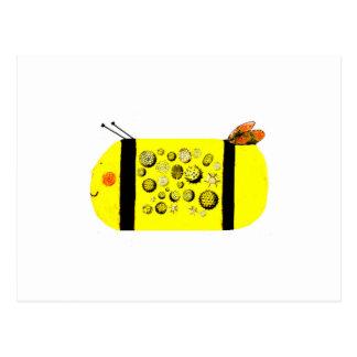 Pollen Bee Postcard