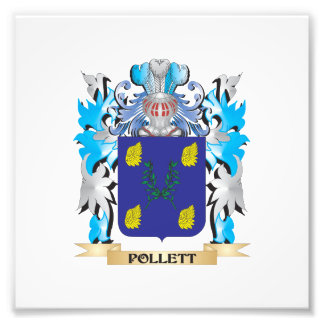 Pollett Coat of Arms - Family Crest Photo Print