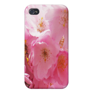 POLLINATING BEE PURPLE FLOWER iPhone 4/4S CASES