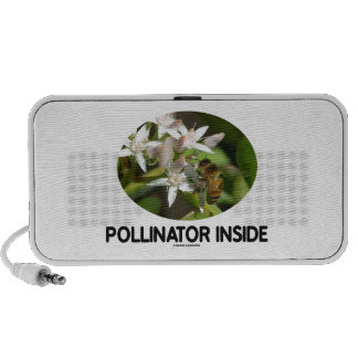 Pollinator Inside (Bee On White Flower) Mini Speaker