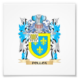 Pollox Coat of Arms - Family Crest Photographic Print