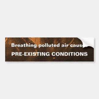 Polluted Air Bumper Sticker