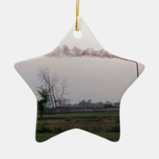 Pollution and global warming ornament