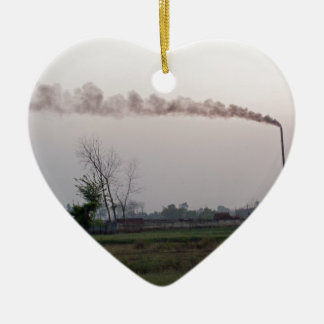 Pollution and global warming christmas tree ornament