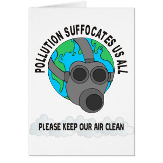 POLLUTION GREETING CARD