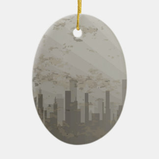 Pollution Ceramic Oval Decoration