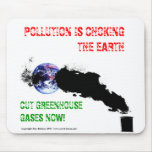 Pollution is choking the earth - Mousemat. Mouse Mat