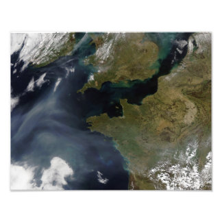 Pollution off France Photograph